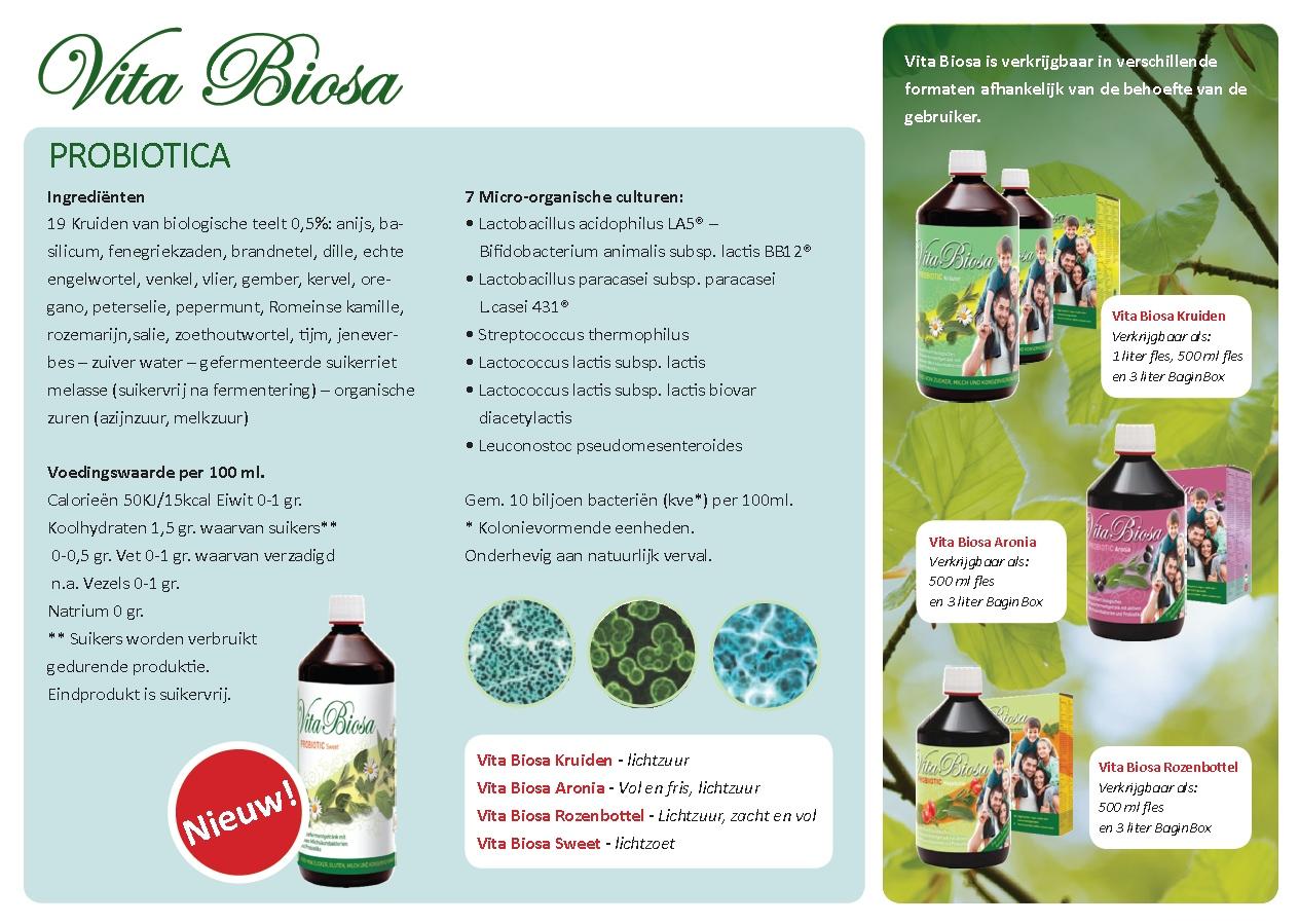 back flyer vita biosa